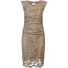 Olvi's 933 bronze polyamide/viscose/elastane off shoulder cap sleeve dress- $665 farfetch.com