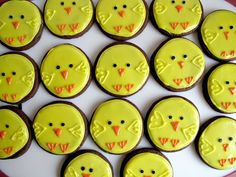 Easter Chick Iced Sugar Cookies- easy to make design and delicious recipe! | The Monday Box