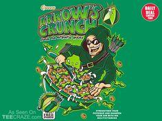 Arrow's Crunch T-Shirt - http://teecraze.com/daily-deal-2/ -  Designed by Fernando_Sala      #tshirt #art #fashion  #greenarrow