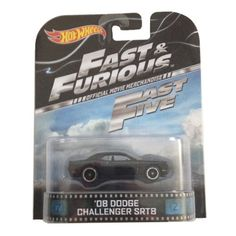 "'08 Dodge Challenger SRT8 Fast & Furious ""Fast Five"" Hot Wheels 1:64 Retro Entertainment Die Cast Hot Wheels http://www.amazon.com/dp/B00H9UBPSA/ref=cm_sw_r_pi_dp_Vjhivb07JBBHV"