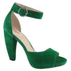 Move | Heels | Wittner Shoes Suede Shoes, Leather Sneakers, Emerald Green Heels, Funky Shoes, Shades Of Green, Chunky Heels, Heeled Mules, Ankle Strap, Kitten Heels