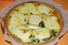 quiche aux épinards, champignons et fromage de chèvre sans gluten