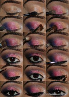 maquiagem colorida para festas de final de ano