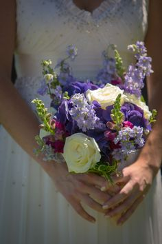 Wedding Flowers (purple and white)