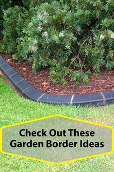 Many Different Materials Can Be Used For A Garden Border. Look at These Garden Edging Ideas Patio Edging, Garden Edging, Garden Borders, Cheap Landscaping Ideas, Modern Landscaping, Backyard Landscaping, Backyard Patio, Nice Backyard, Patio Ideas