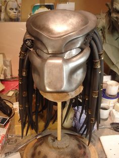 Light weight fibreglass Biomask for the Predator mask. This has working targeting lasers and is held onto the predator mask with concealed magnets.