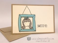 Stampin up stamping stamp it pretty mary fish sweetie pie frame card ideas demonstrator blog