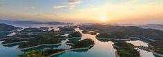 Thousand Island Lake, China • AirPano.com • 360 Degree Aerial Panorama • 3D Virtual Tours Around the World