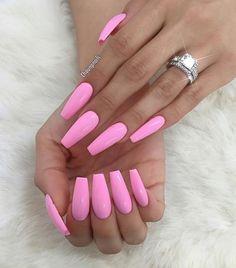 Pretty Pink Coffin Nails