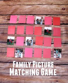 Family Picture Matching Game