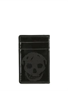 ALEXANDER MCQUEEN - PATENT LEATHER CREDIT CARD HOLDER - LUISAVIAROMA - LUXURY SHOPPING WORLDWIDE SHIPPING - FLORENCE