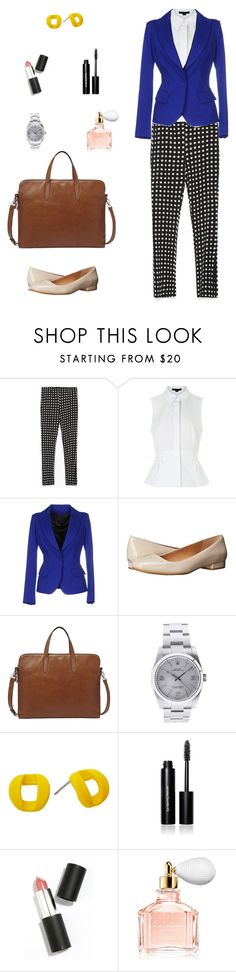 """Ready to success 2"" by arimacias on Polyvore featuring moda, Zara, Alexander Wang, Plein Sud, Calvin Klein, FOSSIL, Rolex, Marc by Marc Jacobs, Bobbi Brown Cosmetics y Sigma Beauty"