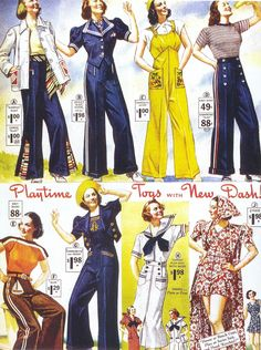 Q's Daydream: Inspiration Friday, 1930's Beach Pajamas & Such. Great photos. Her blog has lots of other interesting topics and photos.