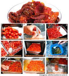 Fazendo tomate seco.