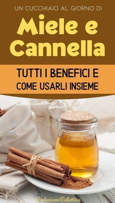 #miele #cannella #rimedinaturali #evoluzionecollettiva Natural Life, Medicine, Honey, Healthy Recipes, Vegetables, Cooking, Food, Beauty, Italia