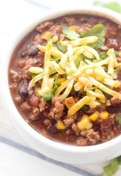 Weight Watcher's Turkey, Corn, and Black Bean Chili