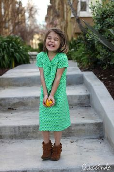 at luce ends: Kid's Clothes Week: A Hopscotch Dress
