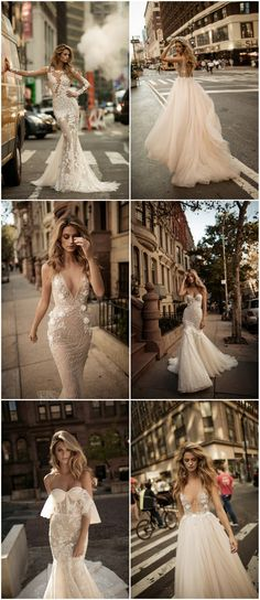 The 2017 #BERTA wedding dresses collection includes bodices with flowers, intricate appliques, blush mermaid gowns, backless dresses, sheer lace panels + more!  @bertabridal via @confettidaydreams http://www.confettidaydreams.com/berta-wedding-dresses/