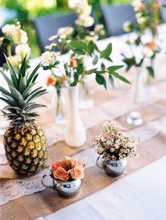 Hawaii wedding tablescape