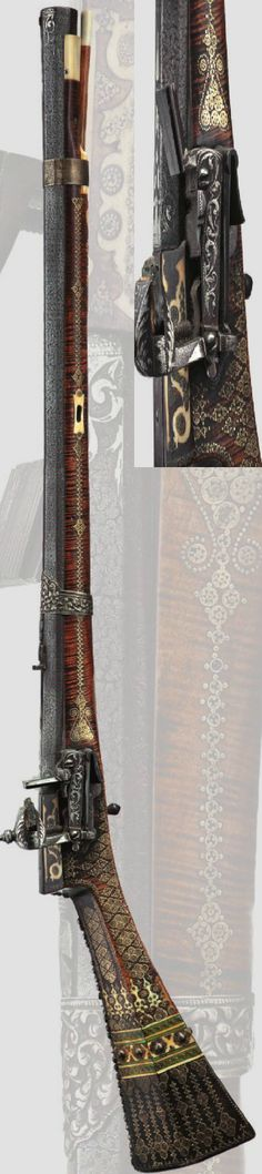 An Ottoman miquelet-lock rifle, 1st half of the 18th century.
