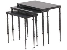 CH Furniture Set of 3 Black Nesting Tables £258.00