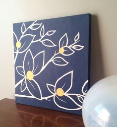Navy Blue And White Bedroom Decorating Ideas Etsy Yellow 12x12 Fl