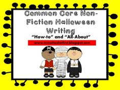 Common Core Halloween Writing Set-$