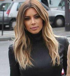 Kim Kardashian's chocolate chip cookie hair colour