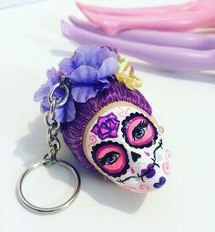 Custom sugar skull from StaroseCreations on Etsy.com