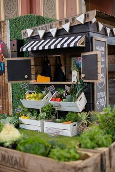 Our new Farmers Market style Cubby House. Rustic, Recycled, Apple Crate Cubby houses made in Melbourne Australia.