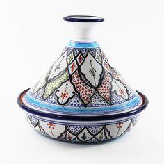 "Le Souk Ceramique 12"" Tibarine Design Cookable Tagine"