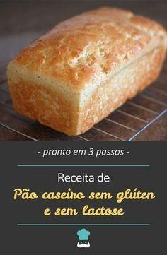 Confira como fazer este pão funcional! #receita #receitas #semglúten #semlactose #receitadepão #pãosemglúten #pãosemlactose