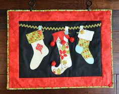 """The Stockings Were Hung"" Christmas Wall Hanging made with the #Cricut!"