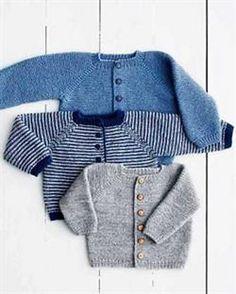 Ravelry: Rilletrøje pattern by Lene Holme Samsøe Baby Boy Knitting, Knitting For Kids, Baby Knitting Patterns, Baby Patterns, Baby Knits, Knitted Baby, Cardigan Bebe, Baby Cardigan, Pull Bebe