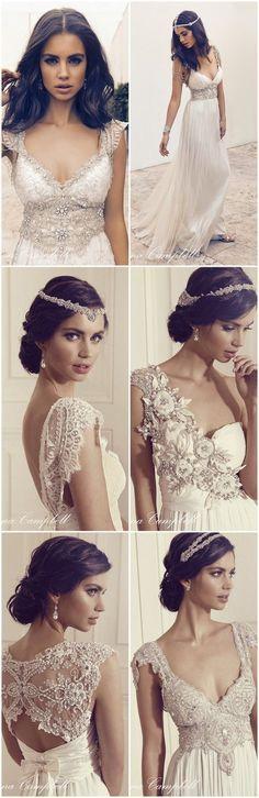 Anna Campbell Wedding Dress 2016  http://www.confettidaydreams.com/anna-campbell-gossamer-collection-2016/