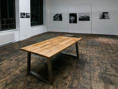 Der Durchsichtige Eiche Altholz mit Niro Gestell Dining Table, Furniture, Home Decor, See Through, Old Wood, Oak Tree, Decoration Home, Room Decor, Dinner Table