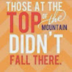 Those at the Top of the Mountain didn't fall there! http://iarman.myrandf.biz
