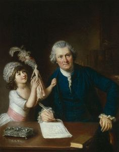 William Hoare, Christopher Antsey with his daughter (holding a Pandora fashion doll), ca. 1775 - National Portrait Gallery, London.
