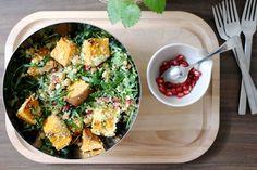 Wintersalat mit Couscous und Kichererbsen