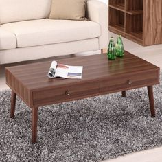 Hokku Designs Eva Coffee Table in Walnut