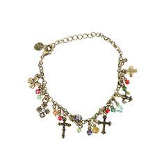 Shyanne Women's Bead and Cross Charm Bracelet