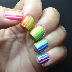 Pink & Polished: Taste the neon rainbow!