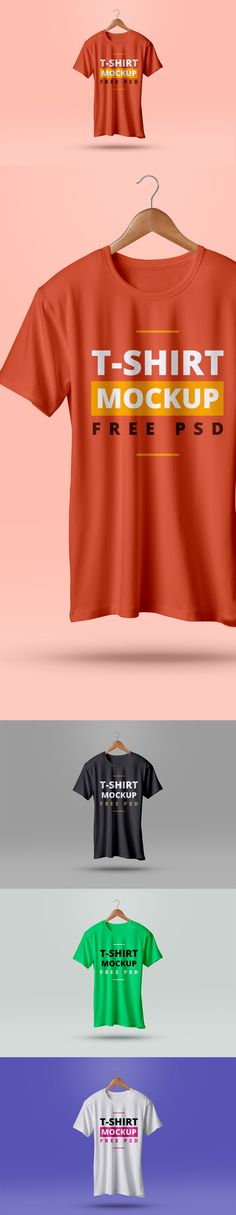Free T-Shirt Mockup PSD (7.38 MB) | By @designlazy on Graphics Fuel | #free…