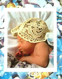 Romanian Point Lace Pattern  Baby Bonnet needle by sylviaslace