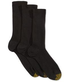 Gold Toe Women's 3-Pk. Non-Binding Extended Size Crew Socks