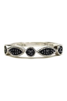 Two-Tone Black Diamond Ring - 0.15 ctw by Savvy Cie on @nordstrom_rack Sponsored by Nordstrom Rack.