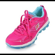Sketchers skech-air memory foam sneakers Amazingly comfortable feels like floating. The bottoms and soles are sooo soft. Used only once they are practically brand new. Color is turquoise and bright pink. Actual photo of item is the 4th pic Skechers Shoes Athletic Shoes