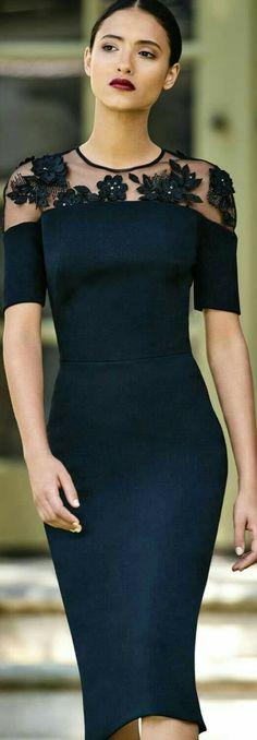 Modelos de vestido com renda Trendy Dresses, Simple Dresses, Elegant Dresses, Beautiful Dresses, Fashion Dresses, Formal Dresses, Lace Dress, Dress Up, Dress Shirt