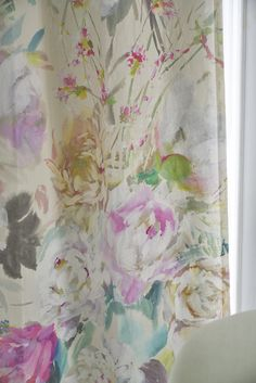A dream like explosion of flowers, beautifully realised in this digitally printed fabric design. Abundant blooms of summer flowers in fresh tones on a subl