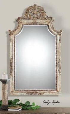 Found it at Clockway.com - Portici Antique Ivory Mirror  - LUT5156